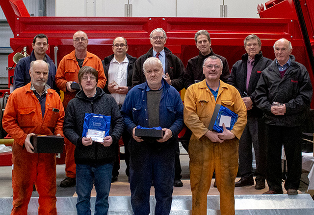 Recognition of Long Service at Teagle Machinery
